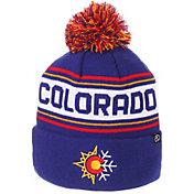Zephyr Men's Colorado Buffaloes Blue Finish Line Pom Knit Beanie