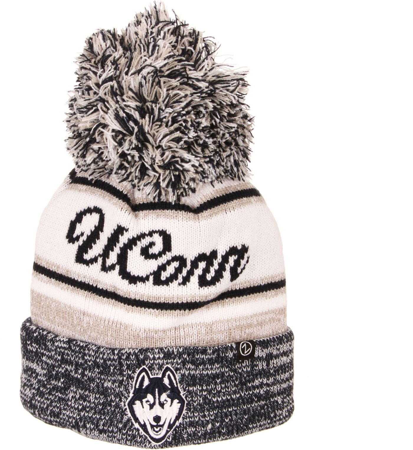 Zephyr Men's UConn Huskies Blue Diana Pom Knit Beanie