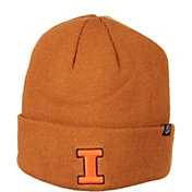 Zephyr Men's Illinois Fighting Illini Brown Cuffed Knit Beanie