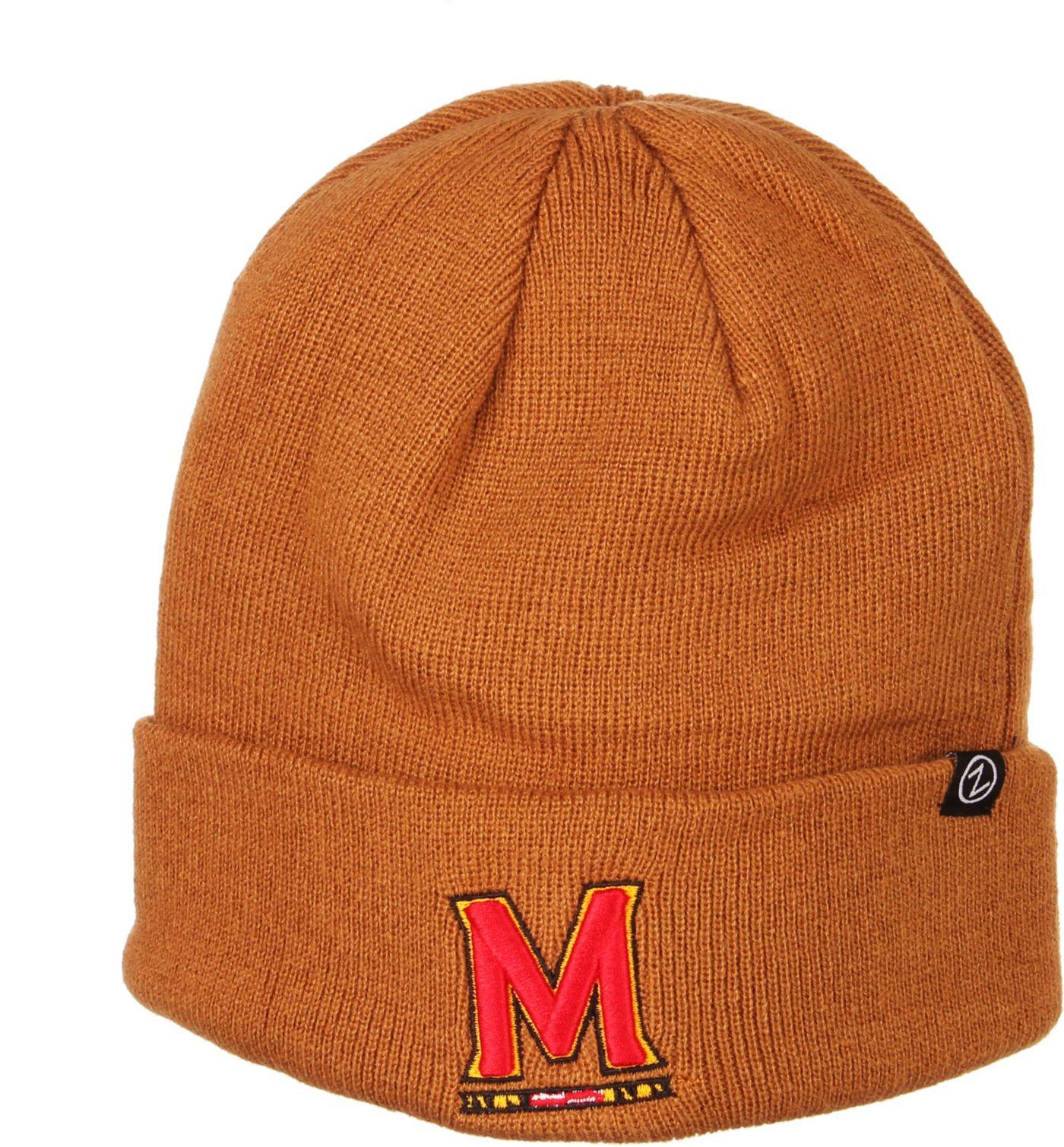Zephyr Men's Maryland Terrapins Brown Cuffed Knit Beanie