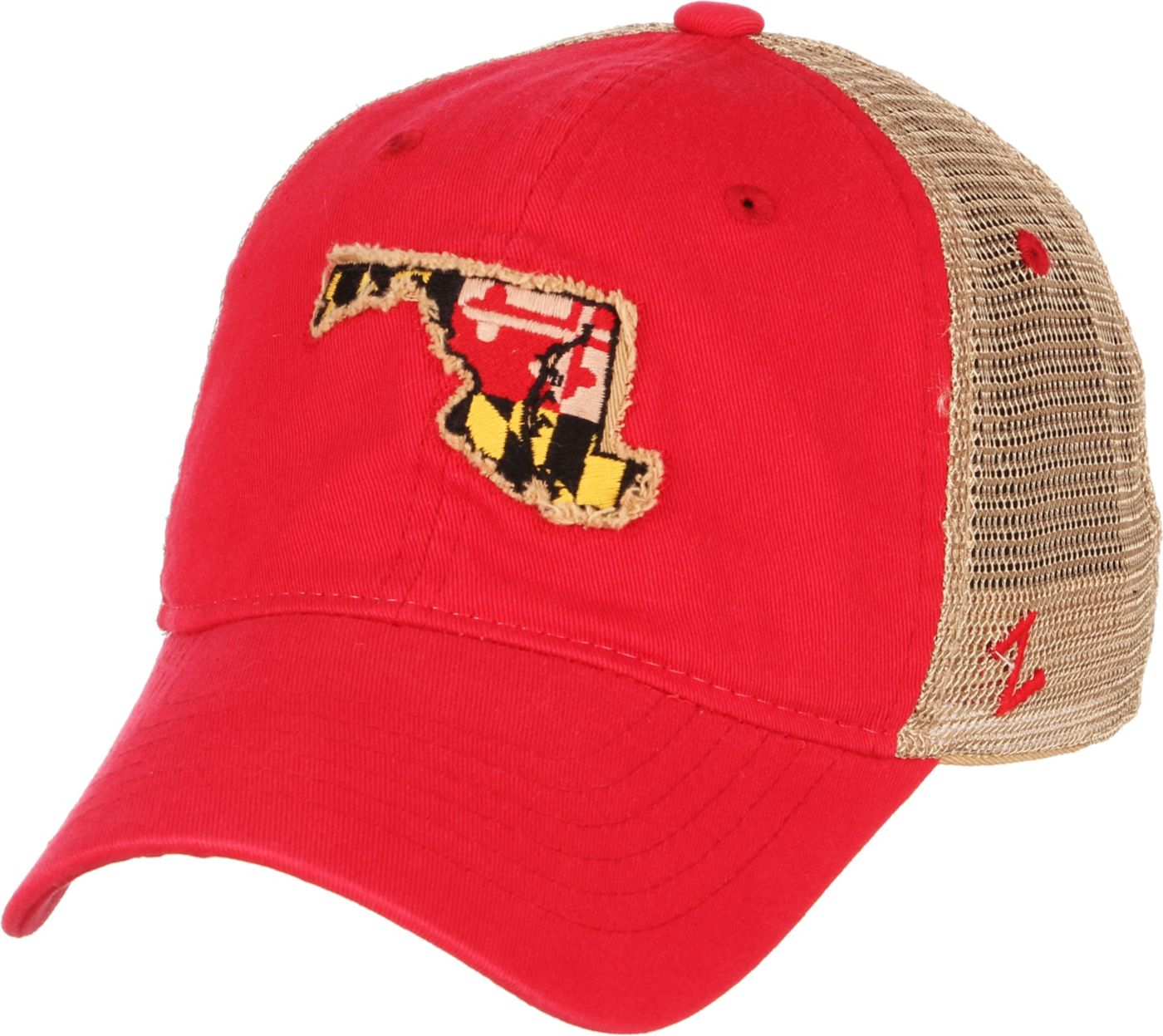Zephyr Men's Maryland Terrapins Red/White 'Maryland Pride' State Flag Adjustable Hat