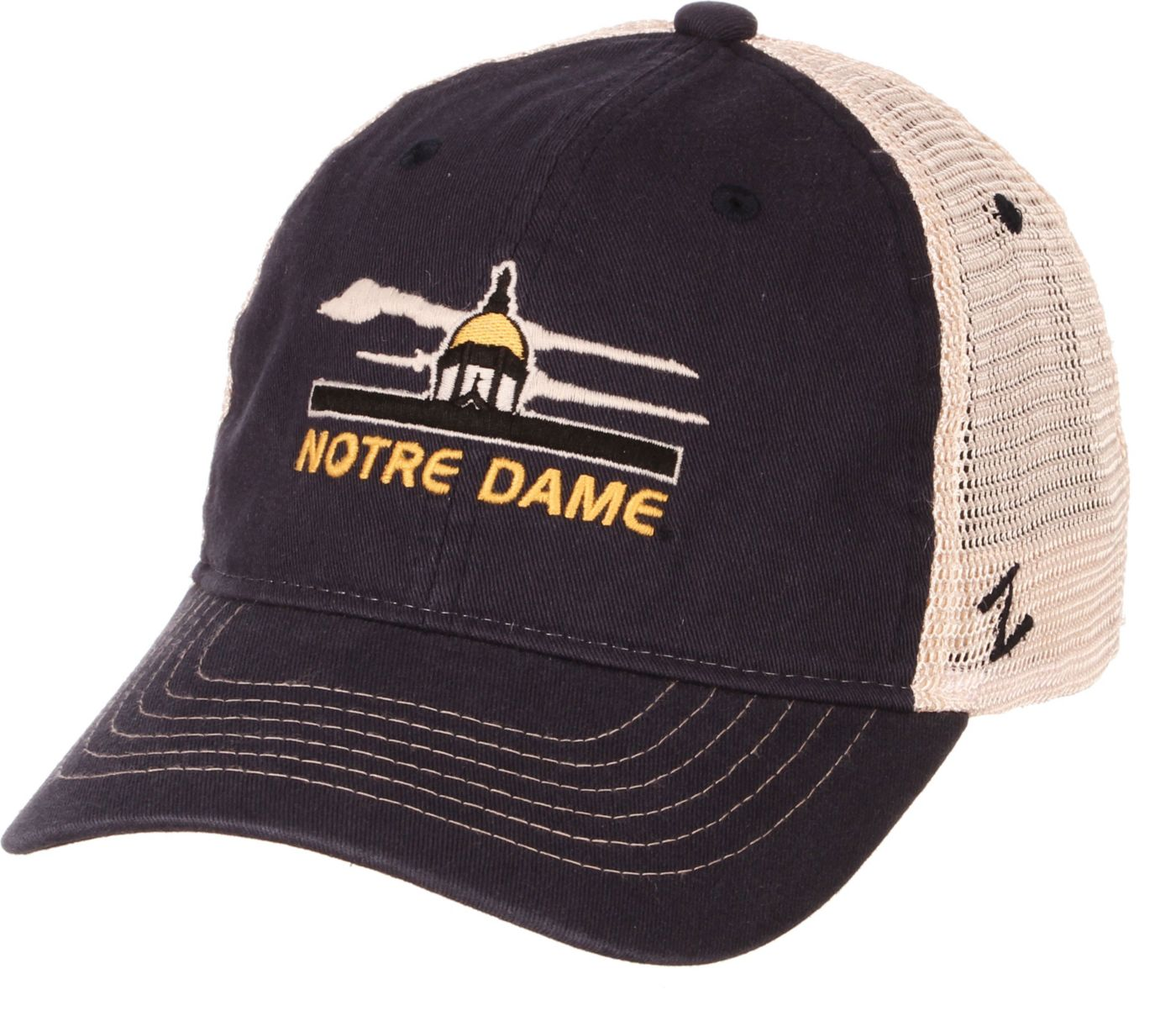 Zephyr Men's Notre Dame Fighting Irish Navy/White Adjustable Trucker Hat
