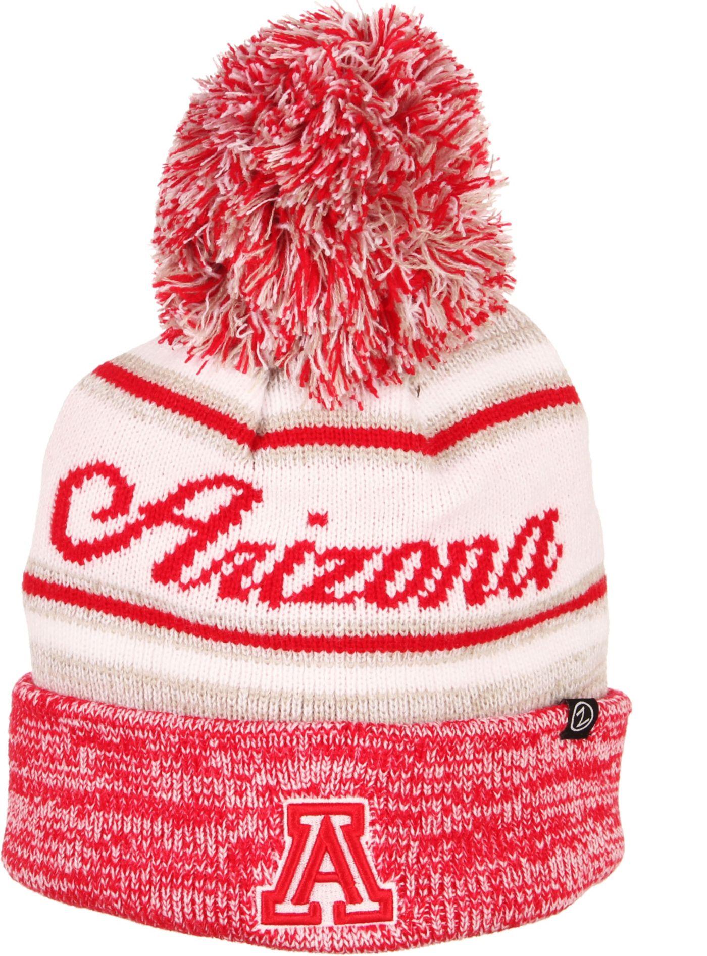 Zephyr Men's Arizona Wildcats Red Diana Pom Knit Beanie