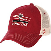 Zephyr Men's South Carolina Gamecocks Garnet/White Adjustable Trucker Hat