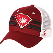Zephyr Men's South Carolina Gamecocks Garnet/White State Flag Adjustable Hat