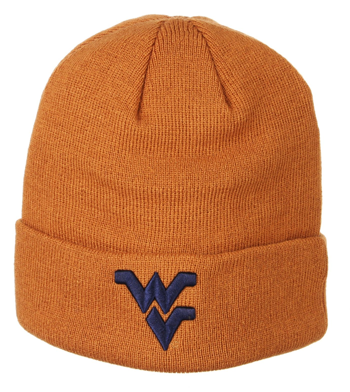 Zephyr Men's West Virginia Mountaineers Brown Cuffed Knit Beanie