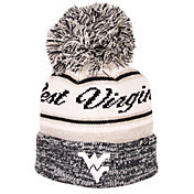Zephyr Men's West Virginia Mountaineers Blue Diana Pom Knit Beanie