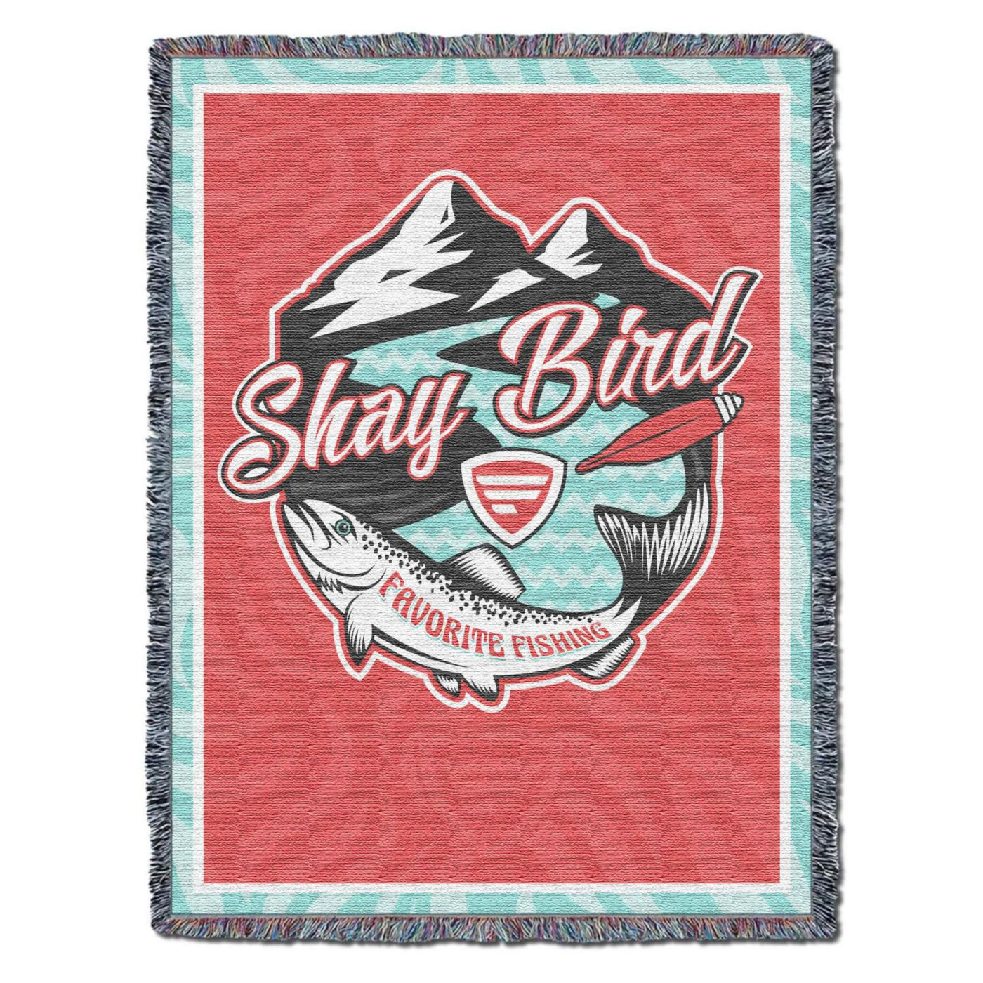 Favorite Fishing Shay Bird Blanket