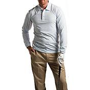 Sansoleil Men's Long Sleeve Stripe Golf Polo