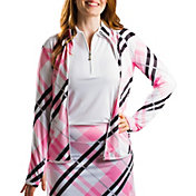 SanSoleil Women's Print Full Zip Golf Jacket