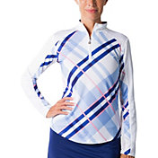 SanSoleil Vented Back ¼ Zip Long Sleeve Golf Pullover
