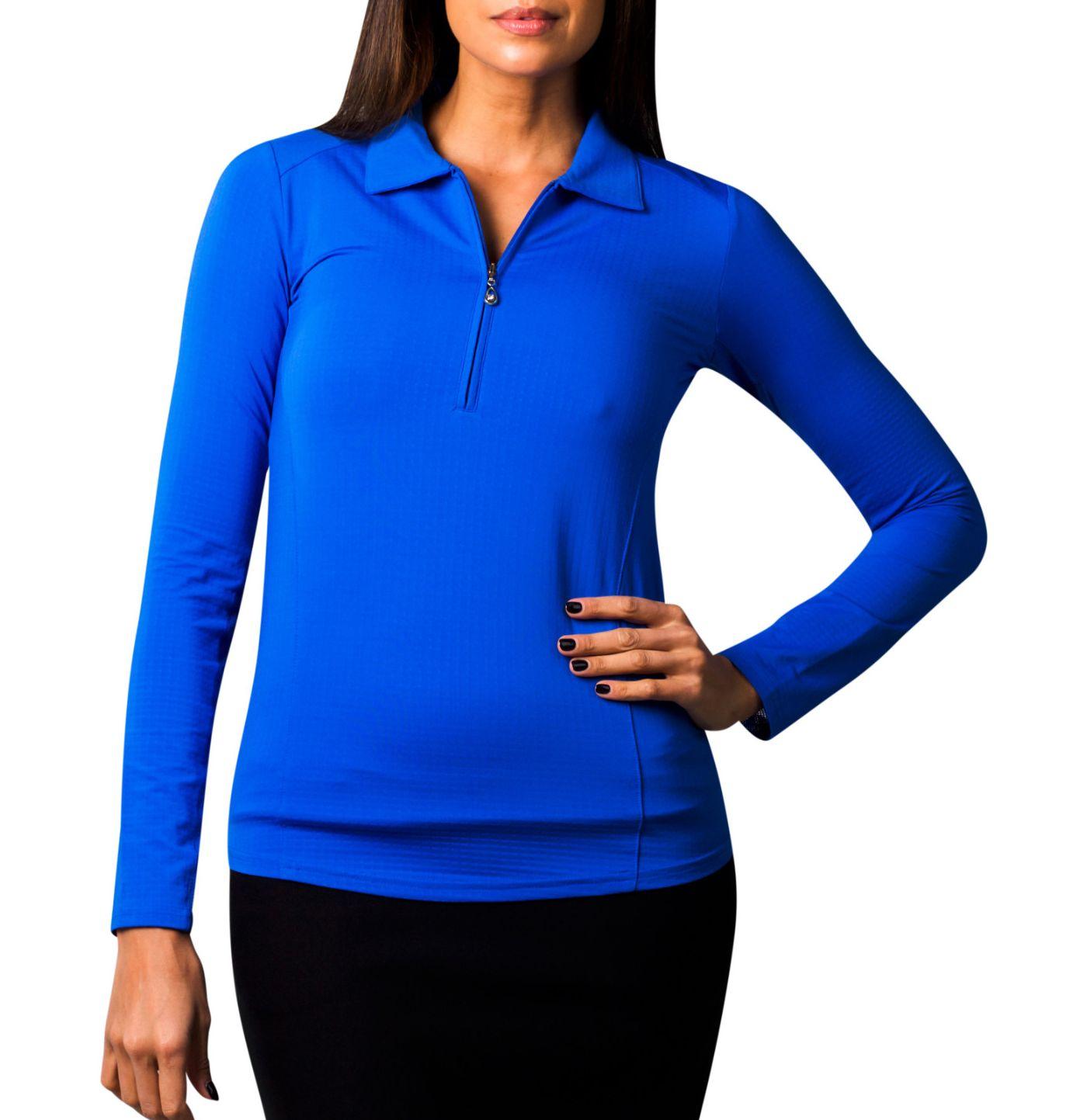 SanSoleil Women's SolTek ICE Solid ¼-Zip Golf Pullover