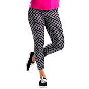 SanSoleil Women's Print Pull-On Slim Ankle Golf Pants