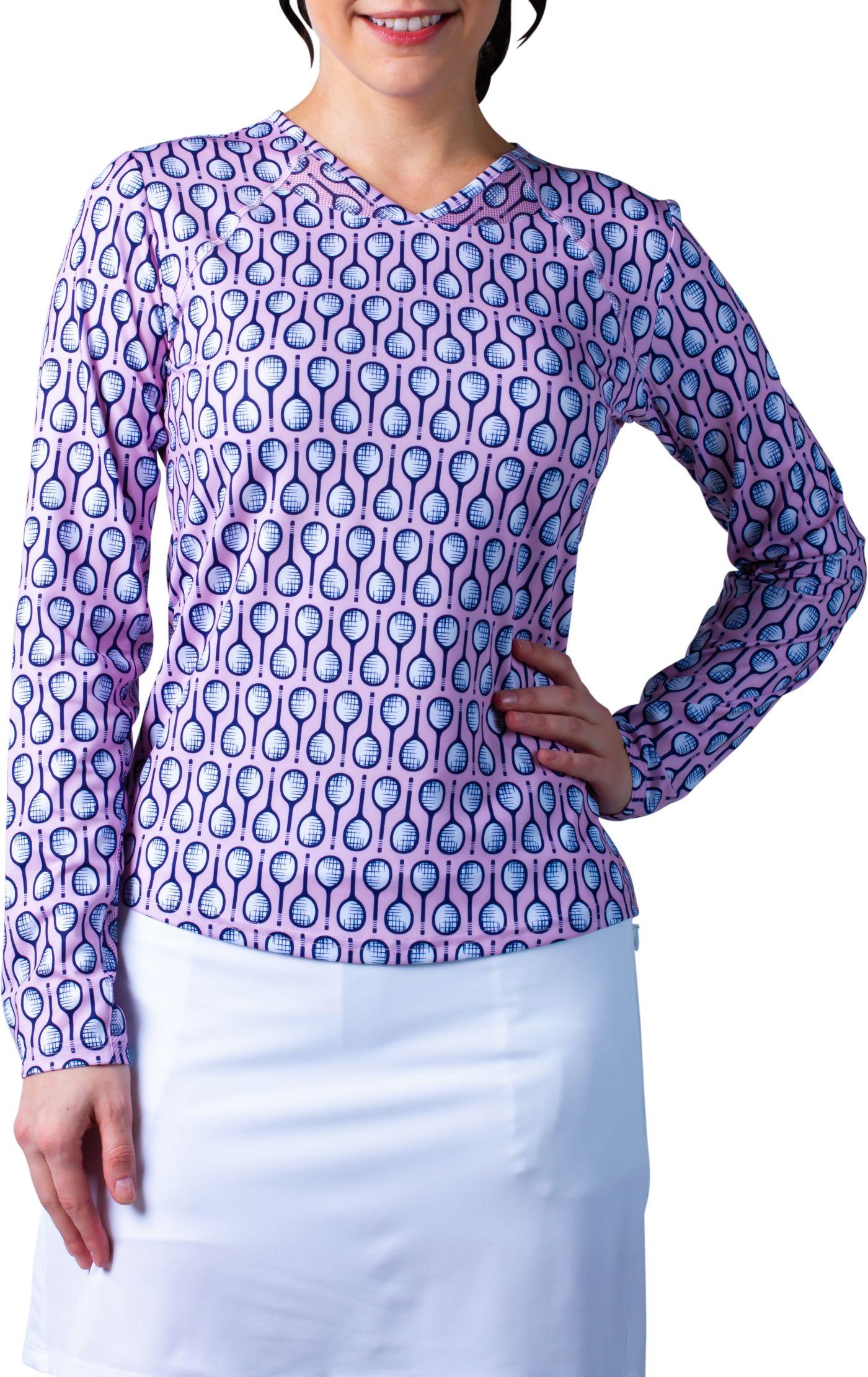 Sansoleil Women's Sunglow Printed Long Sleeve Tennis Shirt