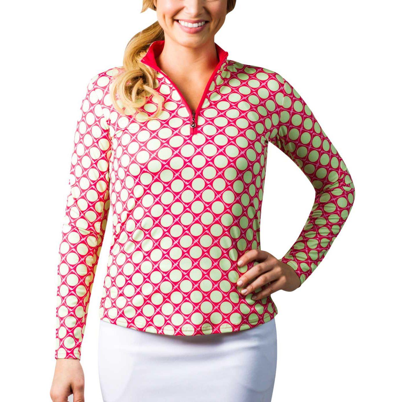 SanSoleil Women's SolCool ¼-Zip Golf Pullover