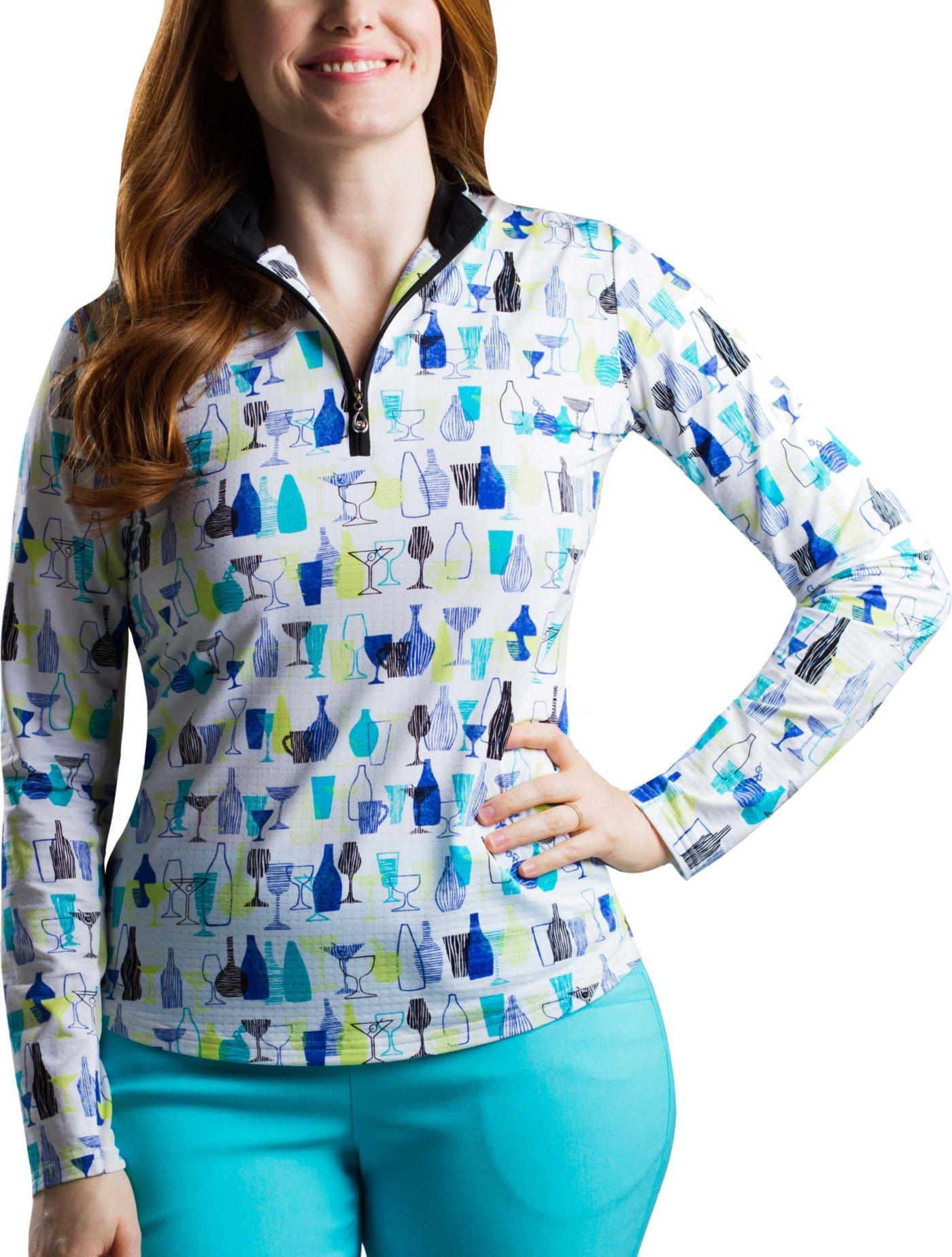 SanSoleil Women's SolTek ICE ¼-Zip Golf Pullover