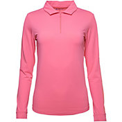 IBKUL Women's Long Sleeve Golf Polo