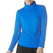 IBKUL Women's Solid Long Sleeve Golf Top