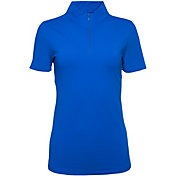 IBKUL Women's Short Sleeve Mock Neck Golf Polo