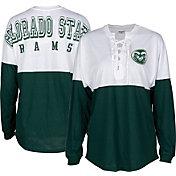 ZooZatz Women's Colorado State Rams Green Clearblock Long Sleeve T-Shirt