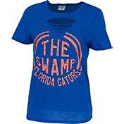 ZooZatz Women's Florida Gators Blue Revival Ripped T-Shirt