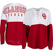 ZooZatz Women's Oklahoma Sooners Crimson Clearblock Long Sleeve T-Shirt