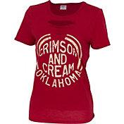 ZooZatz Women's Oklahoma Sooners Crimson Revival Ripped T-Shirt