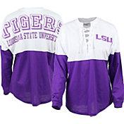 ZooZatz Women's LSU Tigers Purple Clearblock Long Sleeve T-Shirt