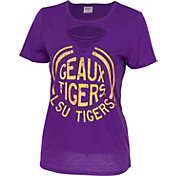 ZooZatz Women's LSU Tigers Purple Revival Ripped T-Shirt