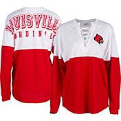 ZooZatz Women's Louisville Cardinals Cardinal Red Clearblock Long Sleeve T-Shirt