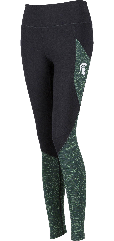 ZooZatz Women's Michigan State Spartans Pocket Black Leggings
