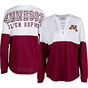 ZooZatz Women's Minnesota Golden Gophers Maroon Clearblock Long Sleeve T-Shirt