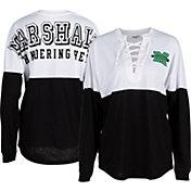ZooZatz Women's Marshall Thundering Herd Clearblock Long Sleeve Black T-Shirt
