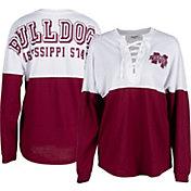 ZooZatz Women's Mississippi State Bulldogs Maroon Clearblock Long Sleeve T-Shirt