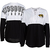 ZooZatz Women's Missouri Tigers Clearblock Long Sleeve Black T-Shirt