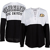 ZooZatz Women's Purdue Boilermakers Clearblock Long Sleeve Black T-Shirt