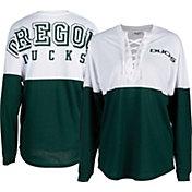 ZooZatz Women's Oregon Ducks Green Clearblock Long Sleeve T-Shirt
