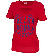 ZooZatz Women's Arizona Wildcats Red Revival Ripped T-Shirt