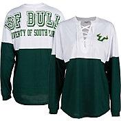 ZooZatz Women's South Florida Bulls Green Clearblock Long Sleeve T-Shirt