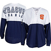 ZooZatz Women's Syracuse Orange Blue Clearblock Long Sleeve T-Shirt
