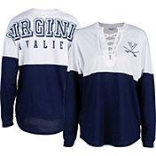 ZooZatz Women's Virginia Cavaliers Blue Clearblock Long Sleeve T-Shirt