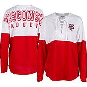 ZooZatz Women's Wisconsin Badgers Red Clearblock Long Sleeve T-Shirt