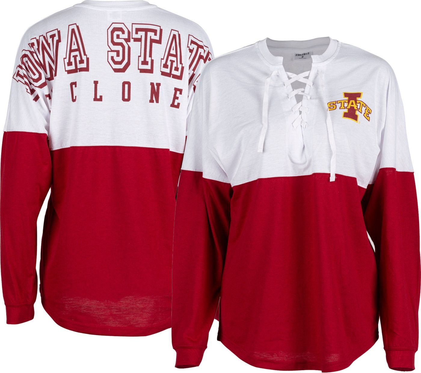 ZooZatz Women's Iowa State Cyclones Cardinal Clearblock Long Sleeve T-Shirt