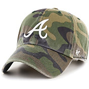 '47 Men's Atlanta Braves Camo Clean Up Adjustable Hat