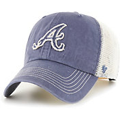 '47 Men's Atlanta Braves Navy Hudson Mesh Clean Up Adjustable Hat
