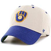 '47 Men's Milwaukee Brewers Bone Prewett Clean Up Adjustable Hat