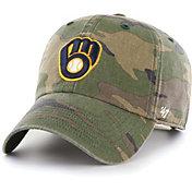 '47 Men's Milwaukee Brewers Camo Clean Up Adjustable Hat