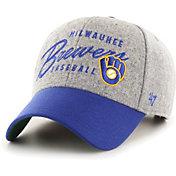 '47 Men's Milwaukee Brewers Gray Fenmore MVP Adjustable Hat