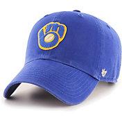 '47 Men's Milwaukee Brewers Royal Mclean Clean Up Adjustable Hat