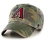 '47 Men's Arizona Diamondbacks Camo Clean Up Adjustable Hat